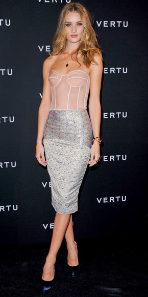 Rosie Huntington-Whiteley in Richard Nicoll