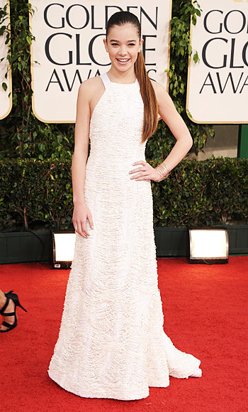 Hailee Steinfeld - Prabal Gurung - Tiffany and Co. - Golden Globes 2011