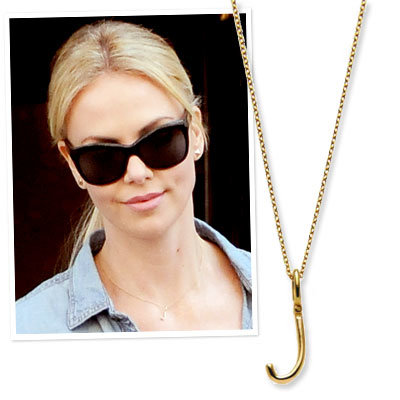 Charlize Theron in a dalla nonna necklace
