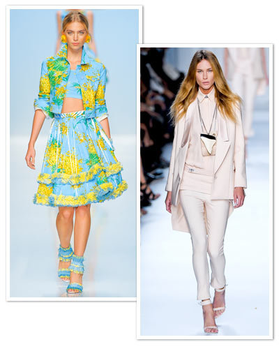 runway to beach - givenchy - blumarine