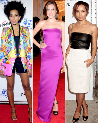 Style Stars - Solange Knowles - Allison Williams - Zoe Kravitz