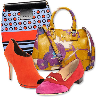 Fall's Most Vibrant Bag and Shoe Combos