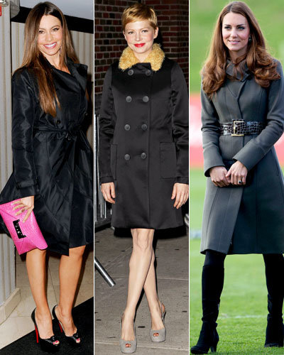 Look Your Best - Flattering Coats For Your Shape - Sofia Vergara - Michelle Williams - Catherine Middleton