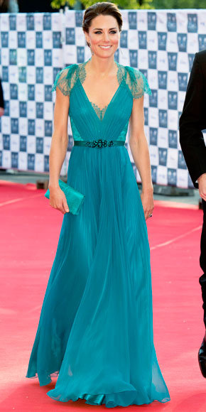 Catherine Middleton in Jenny Packham