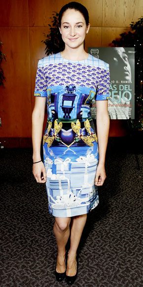 Shailene Woodley in Mary Katrantzou