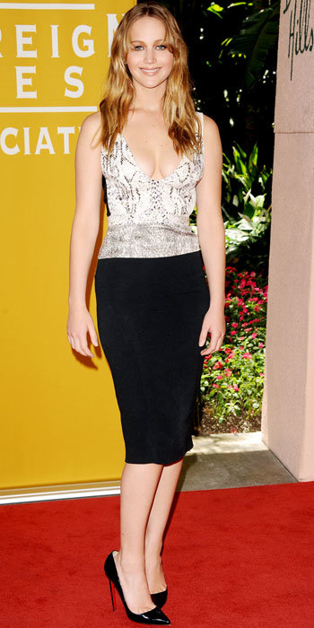 Jennifer Lawrence in Narciso Rodriguez