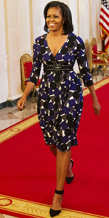 Michelle Obama in Zero + Maria Cornejo