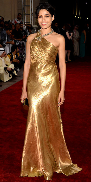 Freida Pinto in Ralph Lauren Collection