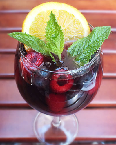 Raspberry Ripple Sangria by Josh Tepperberg, Chef and Founder of Dr. Marinade Inc.