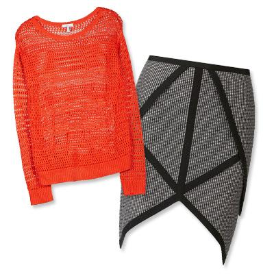 Joie sweater and Sass & Bide skirt