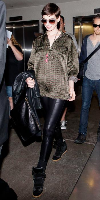 Anne Hathaway Airport Style