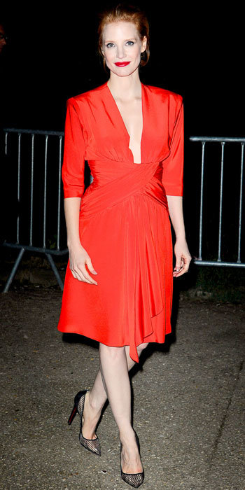 Jessica Chastain in Saint Laurent