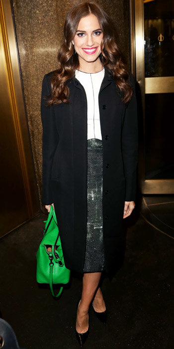 Allison Williams in Narciso Rodriguez