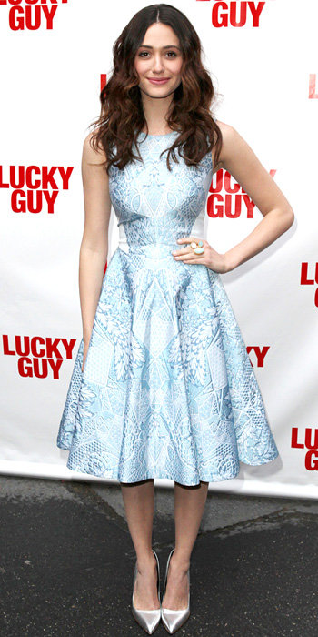 Emmy Rossum in Temperley London