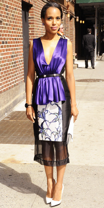 Kerry Washington in Prabal Gurung