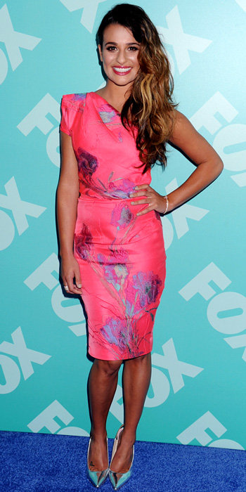 Lea Michele in Lela Rose