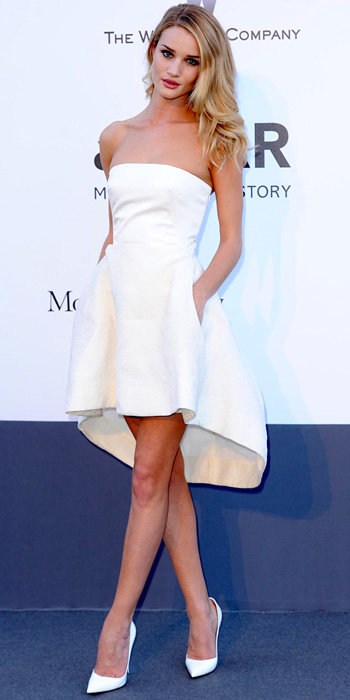 Rosie Huntington Whiteley in Christian Dior