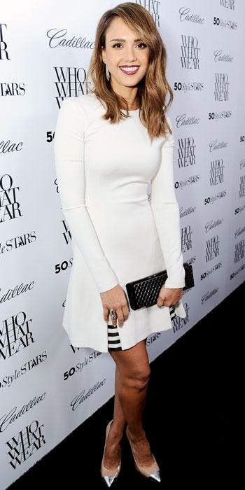 Jessica Alba in Wes Gordon