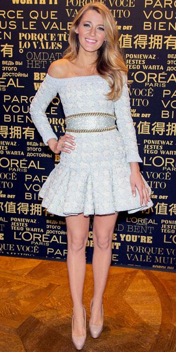 Blake Lively in Balmain