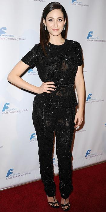 Emmy Rossum in Naeem Khan