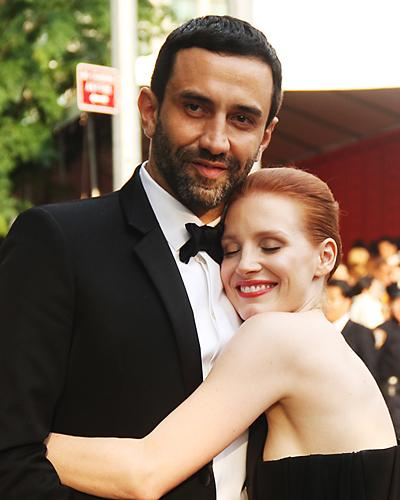 CFDA Parties - Riccardo Tisci and Jessica Chastain