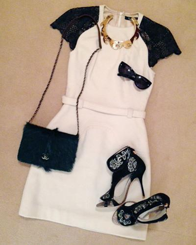 Melissa Rubini London Fashion Week outfit