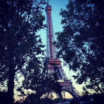 Eiffel tower at PFW