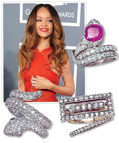 Grammy Jewelry 2013 - Rihanna