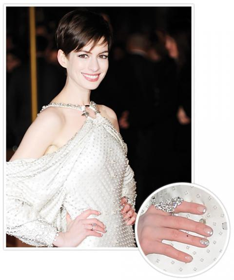 2012 Celebrity Manicures - Anne Hathaway