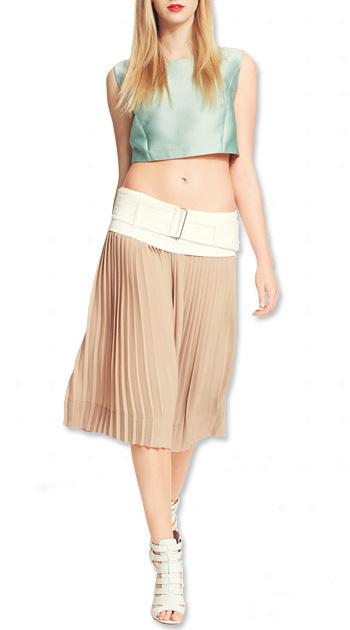 How to Wear the New Shapes - The Crop Top: High Above a Flowy Skirt