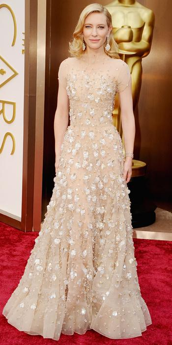 Oscars 2014 - Cate Blanchett in Armani with Chopard earrings