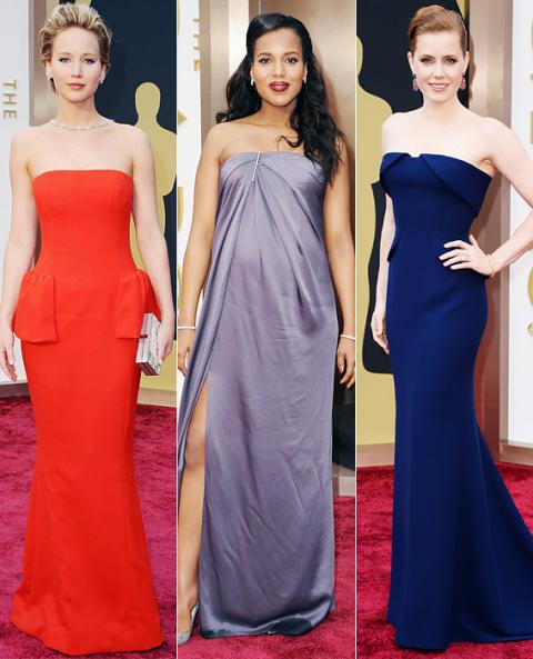 Oscar Fashion Trends: Strapless Solids