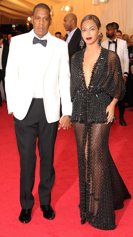 Beyonce in Givenchy Couture, with Jay Z