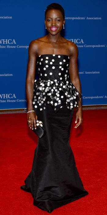 lupita at White House Correspondents Dinner