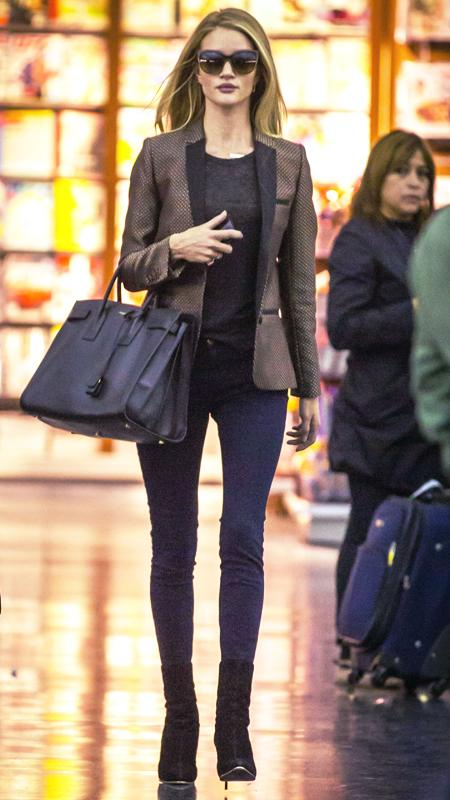 Star Airport Style: Rosie Huntington-Whiteley