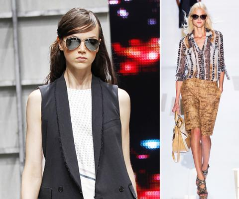 Aviators, Sunglasses, Diane Von Furstenberg, Band of Outsiders