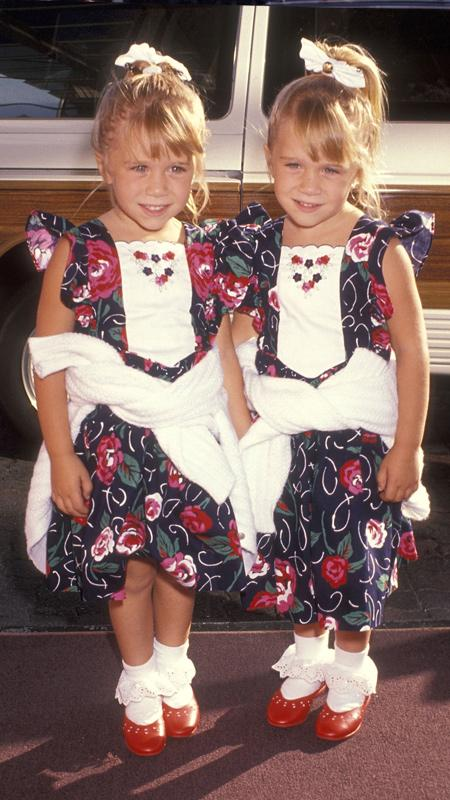 Mary-Kate and Ashley Olsen in 1991
