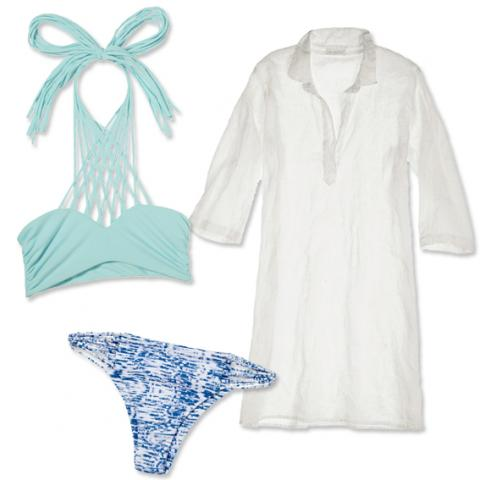 Swimsuit and coverup pairings: Mikoh and Calypso St. Barth