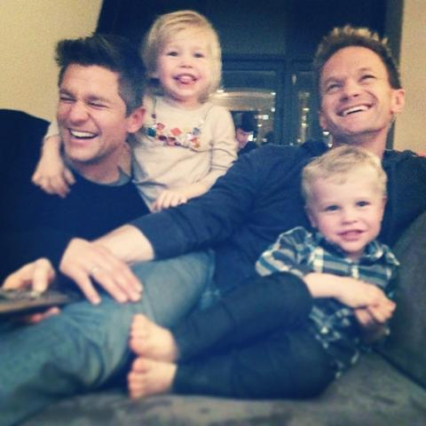 SMA - Neil Patrick Harris, David Burtka, Harper, and Gideon