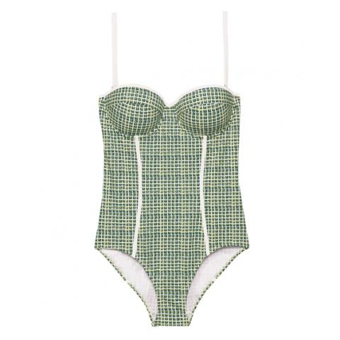 Slimming one-piece bathing suits Tory Burch