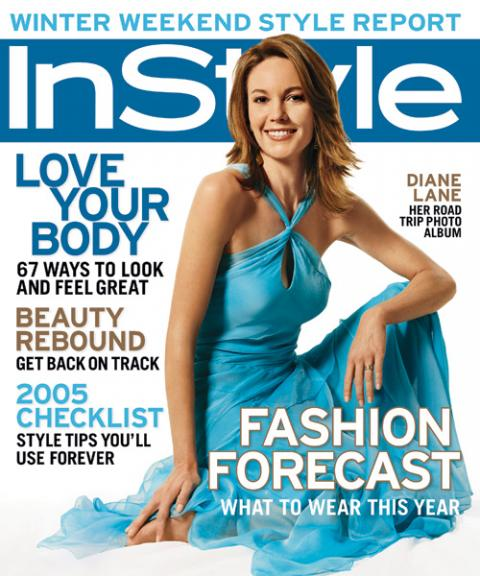 InStyle Covers - January 2005, Diane Lane