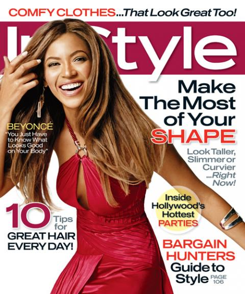 InStyle Covers - January 2007, Beyonce
