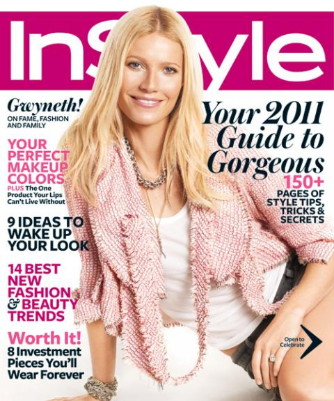 InStyle Covers - January 2011, Gwyneth Paltrow