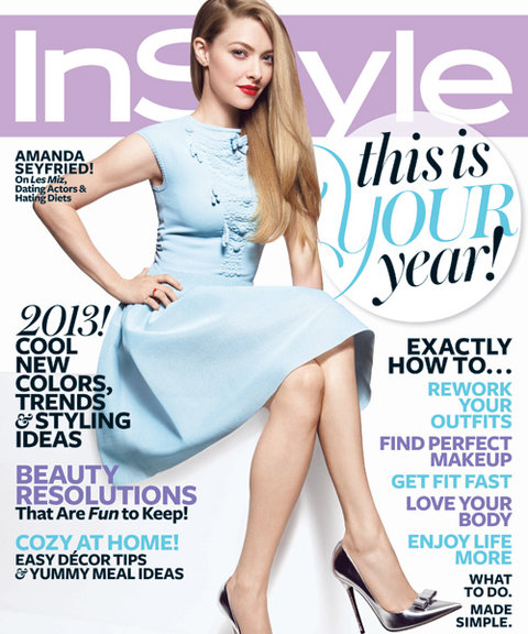 InStyle Covers - January 2013, Amanda Seyfried