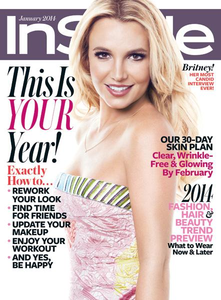InStyle Covers - January 2014, Britney Spears