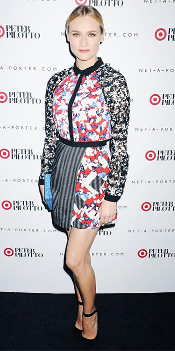 Diane Kruger in Peter Pilotto for Target