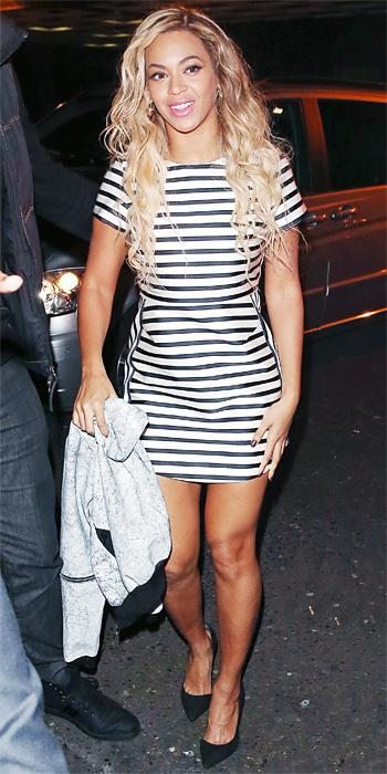 Beyonce Knowles in Topshop