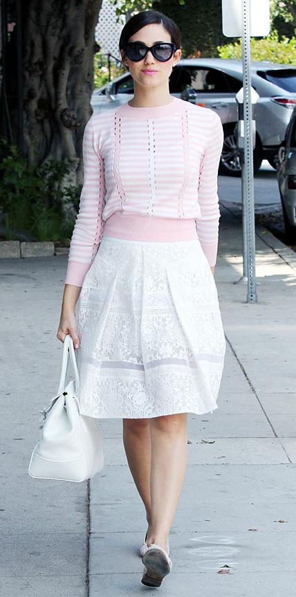 Emmy Rossum in Tanya Taylor