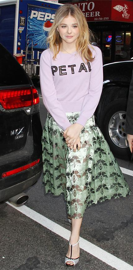 Chloe Grace Moretz in Christopher Kane