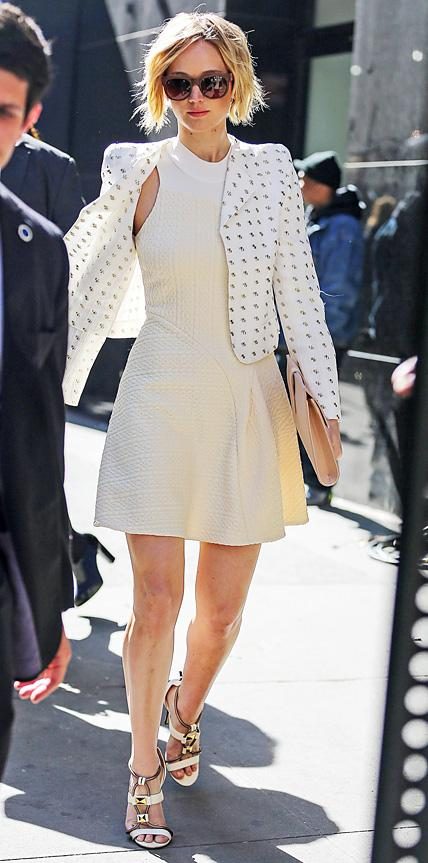 Jennifer Lawrence in Chloe and 3.1 Phillip Lim